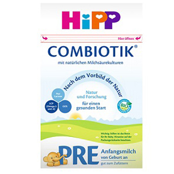 德国喜宝(HiPP)益生元系列 益生菌有机婴幼儿奶粉 pre段(0-6月)600克