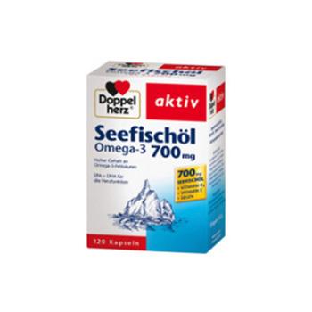 双心(doppelherz)深海鱼油胶囊呵护心脑血管预防三高120粒/盒 700mg *1盒装
