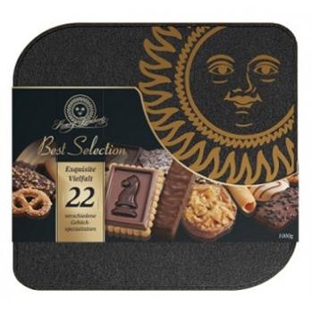 Lambertz兰贝思亨利精选什锦曲奇饼干22种味1KG铁盒