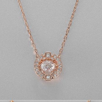 施华洛世奇 跳动的心仿水晶  金链白钻,银链蓝钻 5284186/5279425