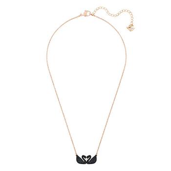 施华洛世奇(SWAROVSKI ) 新款 女士时尚天鹅水晶吊坠锁骨链项链5296468 玫瑰金色