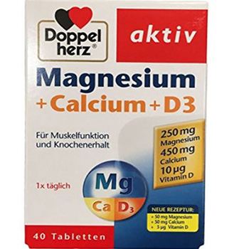 德国 双心(Doppelherz) 钙镁D3片40片