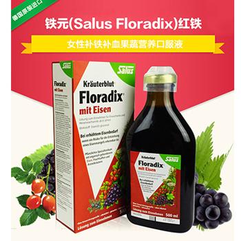 铁元 德国Salus Floradix Iron 补铁补血 红铁元果蔬营养液
